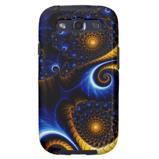 Abstract Blue Fractal Sky Samsung Galaxy S Case