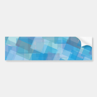 Abstract Blue Geometric Bumper Stickers