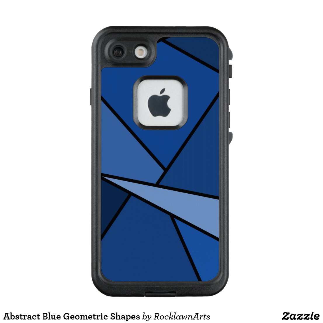Abstract Blue Geometric Shapes LifeProof® FRĒ® iPhone 7 Case