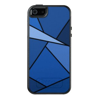 Abstract Blue Geometric Shapes