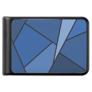 Abstract Blue Geometric Shapes Power Bank