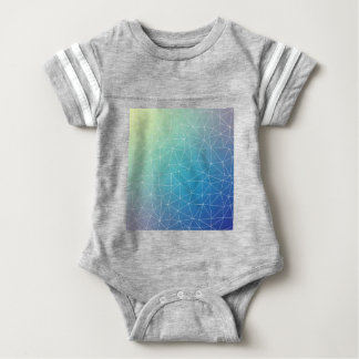 Abstract Blue Geometric Triangulated Design Baby Bodysuit