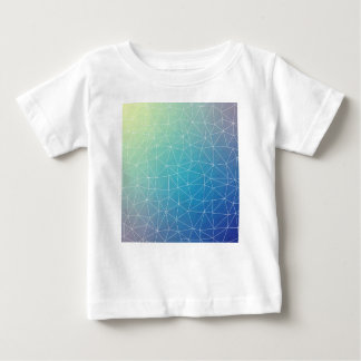Abstract Blue Geometric Triangulated Design Baby T-Shirt