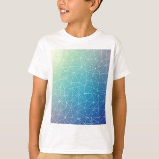 Abstract Blue Geometric Triangulated Design T-Shirt