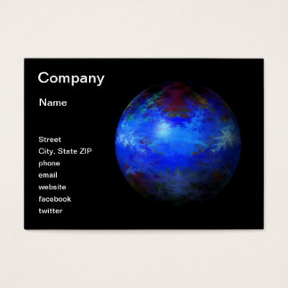 Abstract Blue Globe Business Card