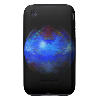 Abstract Blue Globe Tough iPhone 3 Cases