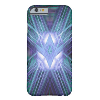 Abstract blue glowing star barely there iPhone 6 case