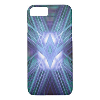 Abstract blue glowing star iPhone 8/7 case