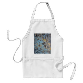 Abstract Blue & Gold Adult Apron