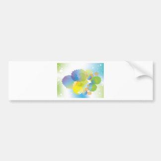 Abstract blue-green background design bumper sticker