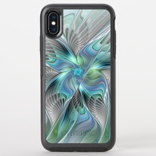 Abstract Blue Green Butterfly Fantasy Fractal Art OtterBox Symmetry iPhone XS Max Case