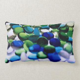 Abstract Blue Green III Lumbar Pillow