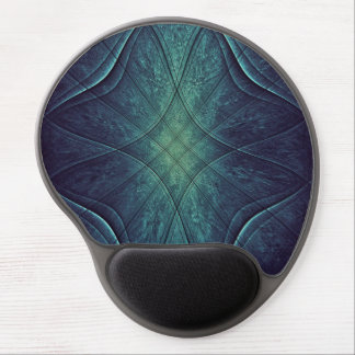 Abstract Blue Green Pattern Gel Mouse Pad