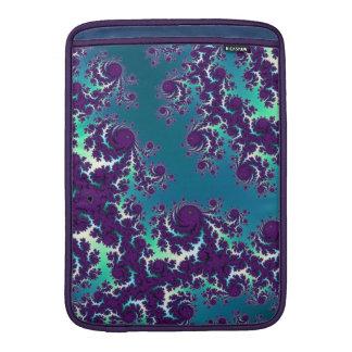 Abstract Blue Green Purple Fractal MacBook Sleeve