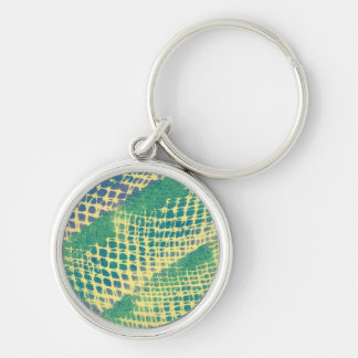Abstract Blue Green Purple Pattern Keychains