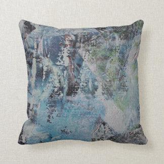 Abstract Blue & Green Scratch Pillow