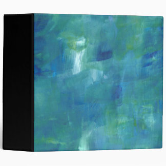 Abstract Blue Green Sentiment. 3 Ring Binder