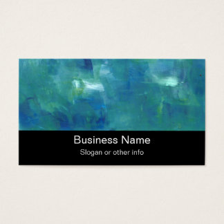 Abstract Blue Green Sentiment. Business Card