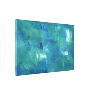 Abstract Blue Green Sentiment. Canvas Print