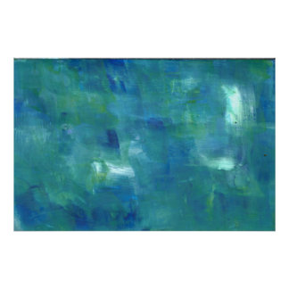 Abstract Blue Green Sentiment. Poster