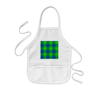 Abstract Blue Greens Apron