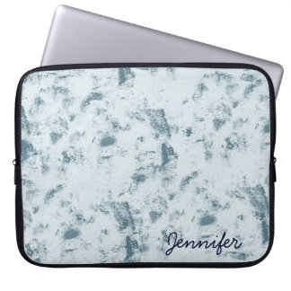 Abstract Blue Grunge Computer Sleeve