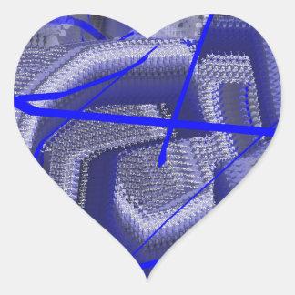 Abstract Blue Heart Sticker