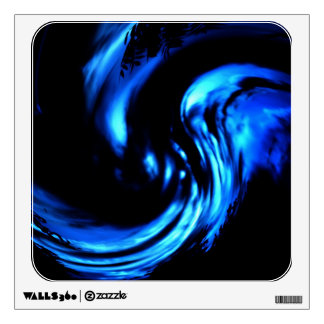 Abstract Blue Howling of the Wind Wall Decal