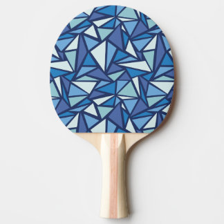 Abstract Blue Ice Crsytal Pattern Ping-Pong Paddle