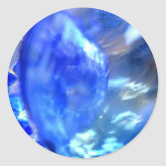 Abstract Blue.JPG Classic Round Sticker