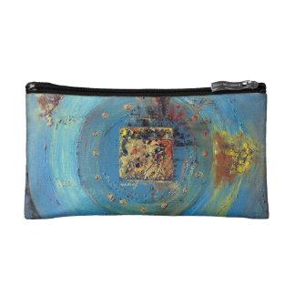 Abstract Blue Kaaba Bag Makeup Bags