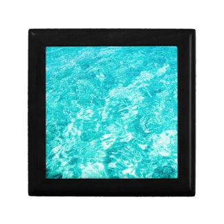Abstract blue keepsake box