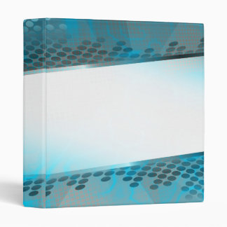 Abstract Blue Layout Vinyl Binders