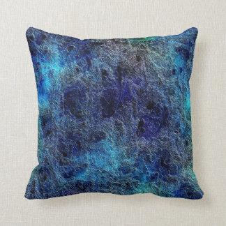 Abstract Blue Light Dark Reversible Throw Pillow
