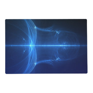 Abstract Blue Light Wave Placemat