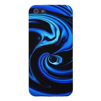 Abstract Blue Lights Art iPhone 5 case