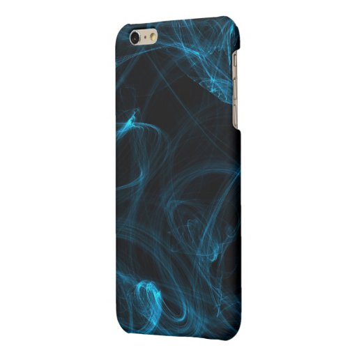 Abstract Blue Lights Matte iPhone 6 Plus Case