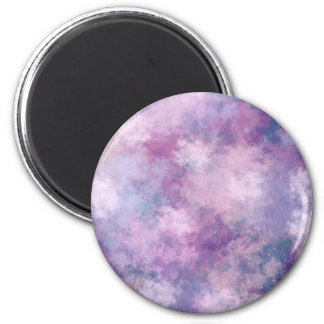 Abstract Blue, Lilac, Pink Acrylic Look 2 Inch Round Magnet