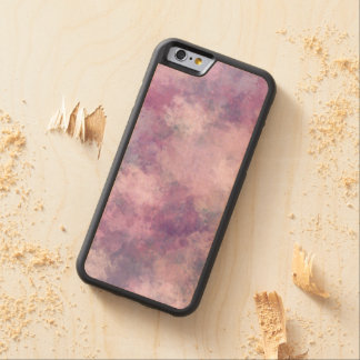 Abstract Blue, Lilac, Pink Acrylic Look Carved Maple iPhone 6 Bumper Case