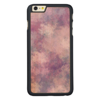 Abstract Blue, Lilac, Pink Acrylic Look Carved Maple iPhone 6 Plus Case