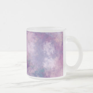 Abstract Blue, Lilac, Pink Acrylic Look Frosted Glass Coffee Mug