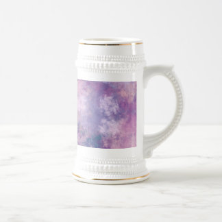 Abstract Blue, Lilac, Pink Acrylic Look 18 Oz Beer Stein