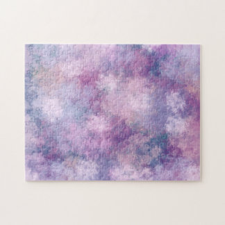 Abstract Blue, Lilac, Pink Acrylic Look Painting Jigsaw Puzzle