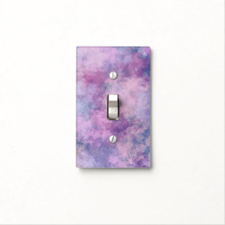 Abstract Blue, Lilac, Pink Acrylic Painting Effect Light Switch Cover