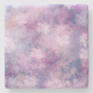 Abstract Blue, Lilac, Pink Acrylic Painting Stone Coaster