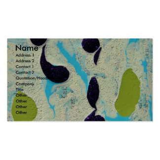 Abstract Blue, Lime, Purple, and White Painting Business Card