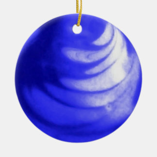 Abstract Blue Marble Ornament