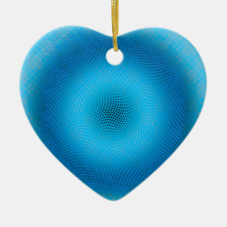 abstract blue mesh ceramic ornament