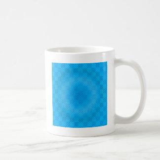 abstract blue mesh checkered coffee mug