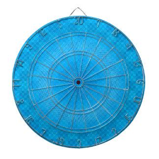 abstract blue mesh checkered dart board